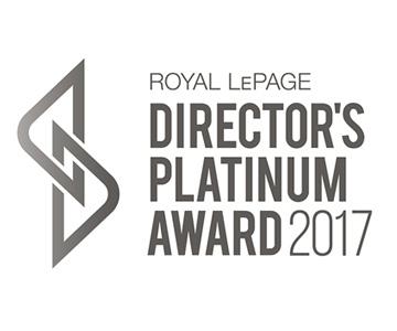 Royal LePage Director's Platinum Award Winner 2017